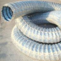 Steel-plastic composite flexible permeable hose