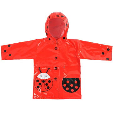 Cute Waterproof PU Kids Raincoats