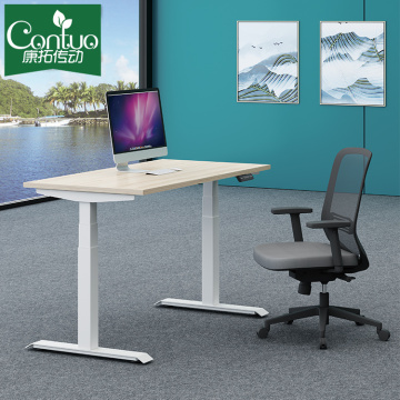 Height Adjustable Office Desk Motorized Double Motor Height Adjustable Standing Desk With Memory Height And Ergonomic