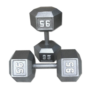 95LB Cast Iron Hex Dumbbell