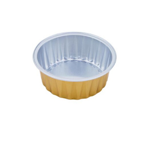 Well-designed for Aluminum Foil Airline Catering Tableware,Airline Catering Tableware,Lunch Box Manufacturers and Suppliers in China Round coated Aluminum Foil Container for oven cooking supply to India Supplier