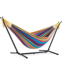 Brazilian style Rainbow Backyard camping hammock with stand
