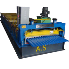 Corrugated wall roofing sheet roll forming machine