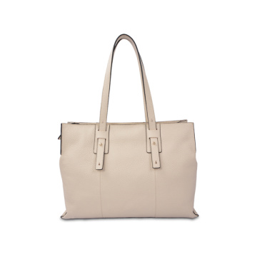 Structured Vegetable Tanned Leather Blush Everyday Tote