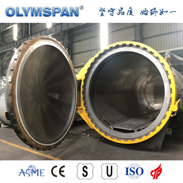 ASME standard small fiber glass part curing autoclave