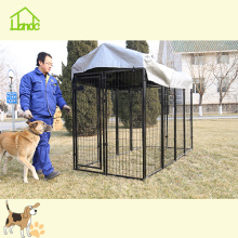 Discount Price Pet Film for Wire Dog Kennel Black Welded Outdoor Rustproof Large Dog Kennel supply to Israel Manufacturer