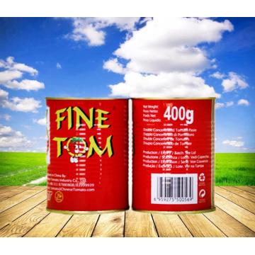 400g FINE TOM Brand Canned Tomato Paste
