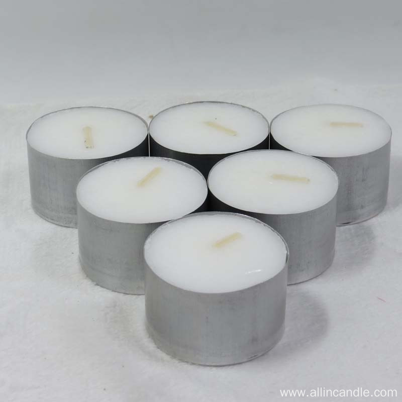 Low price wax tea light candle factory
