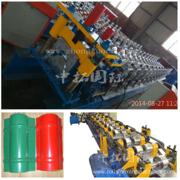 Colored Steel Roof Ridge Roll Forming Machine