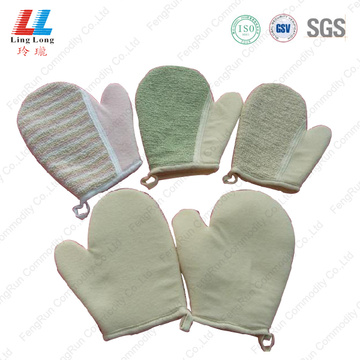 Loofah sponge cleaning gloves sponge
