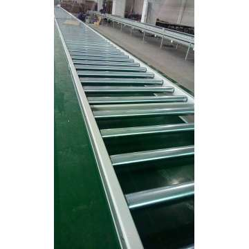 Automated stainless steel roller conveyors belt systems
