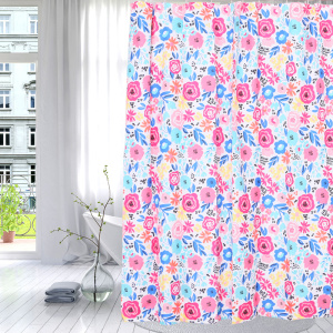 Factory Outlets for Waterproof Shower Curtain Shower Curtain Polyester Vivid Flowers supply to Armenia Importers