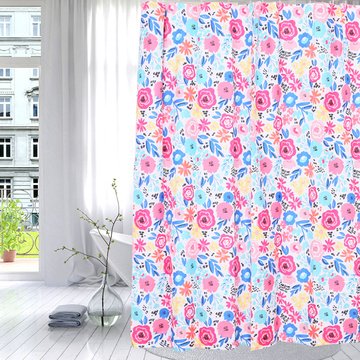 Manufacturer of for Blue Shower Curtain Shower Curtain Polyester Vivid Flowers export to Antigua and Barbuda Factories