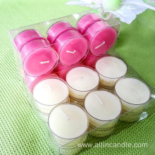 Germany 8hour tea light candles in clear case