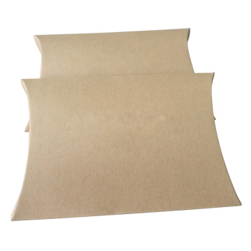 Kraft Pillow box for hair extension packaging