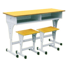 New Arrival China for China Classroom Tables,Student Desk,Classroom Desk Manufacturer and Supplier Metal Yellow Double Classroom Table export to United States Minor Outlying Islands Wholesale