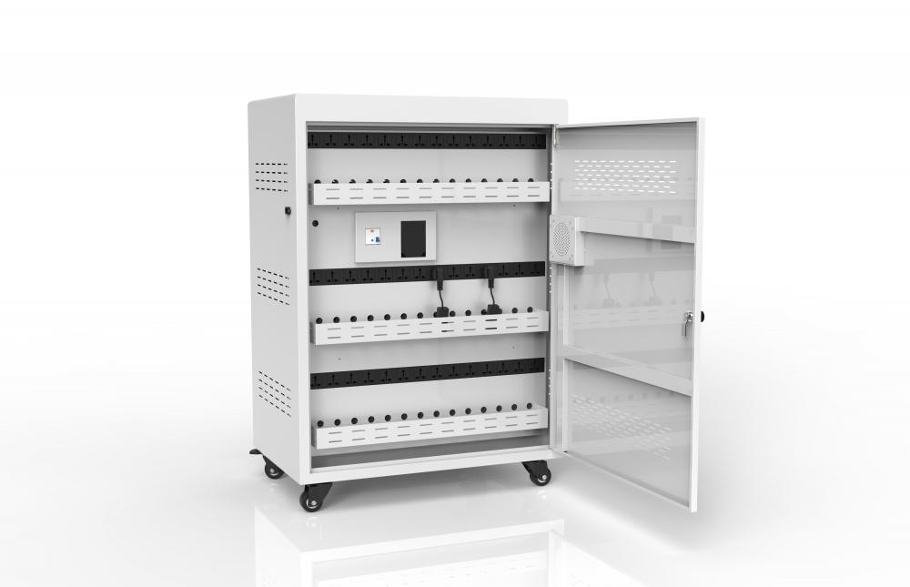 42 laptop steel storage cart charging