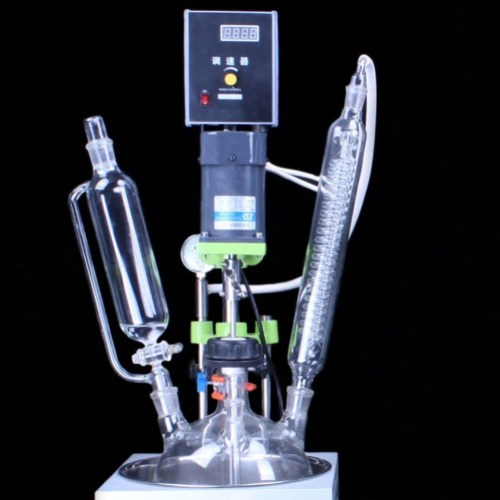 1l single layer mini glass reactor