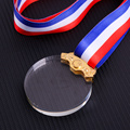 Custom make crystal engraving medal