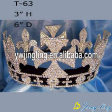 Full Round Large Rhinestone Pageant Crowns