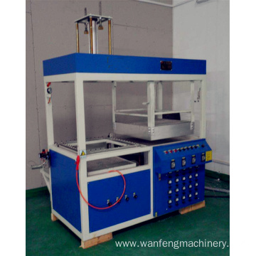 Semi automatic double head vacuum forming machine