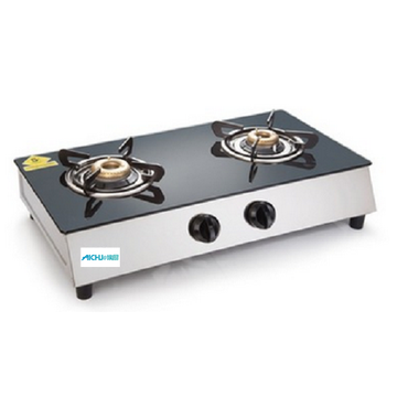 Solid Stainless Steel Plus Glass Gas Stove