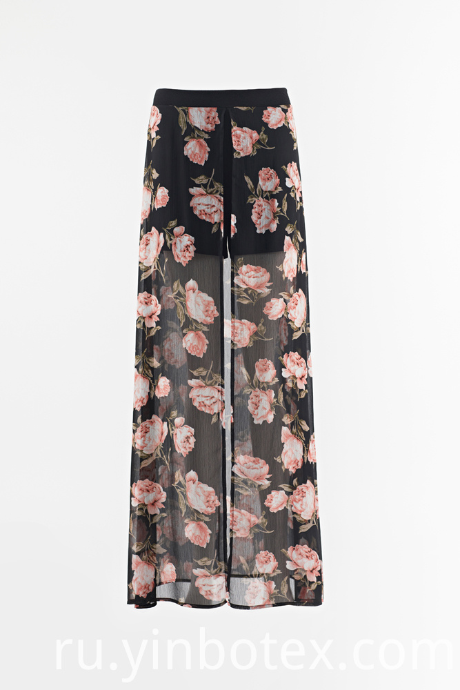 chiffon light wide trousers