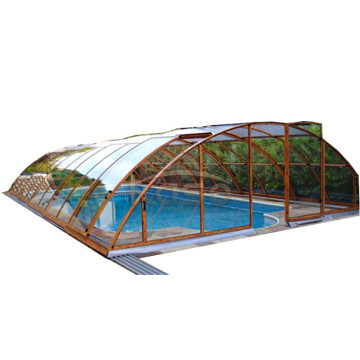 Top Quality for Polycarbonate Swimming Pool Enclosures Philippine Glass Fabric Automatic Swimming Pool Cover Cost export to Trinidad and Tobago Manufacturers