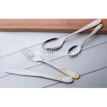 Stainless Steel Forks Spoons Knives Tableware Set