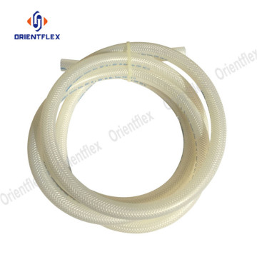 Bendy food conveying braided silicone nylon tubing
