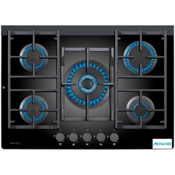 5 Burner Gas On Glass Hob