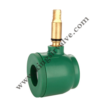 Green plastic ball valve