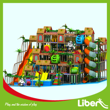 Physical indoor amusement playground