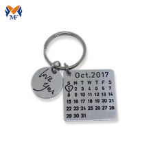 Purchasing for Customized Keyring Metal custom calendar keychain for anniversary export to Netherlands Suppliers