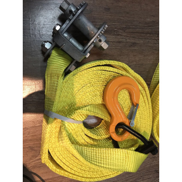 Super Heavy Duty Ratchet Buckle Green Lashing Strap with 20T