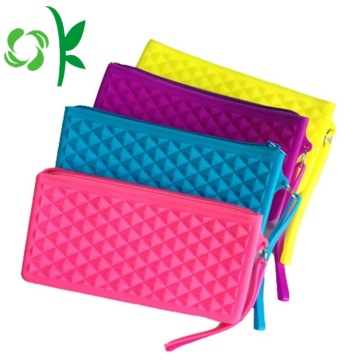 Promotion Gift Silicone Custom Zipper Medium Coin Purse