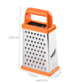 plastic handle stainless steel vegetable grater