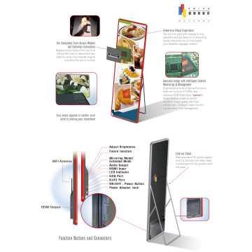Poster LED displays for outdoor