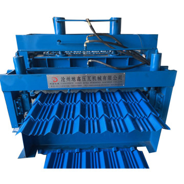 double layers glazed roof tile making machine price
