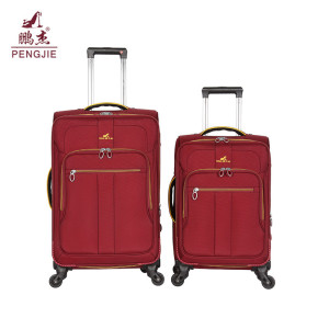 Business trolley soft polyester expandable luggage