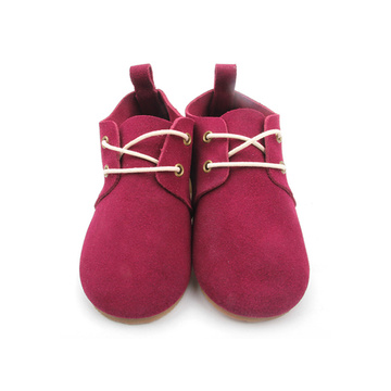 Red Hard Sole Kids Shoes