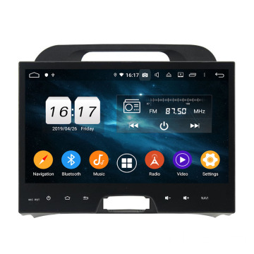 Sportage 2010-2012 car dvd player di screnu