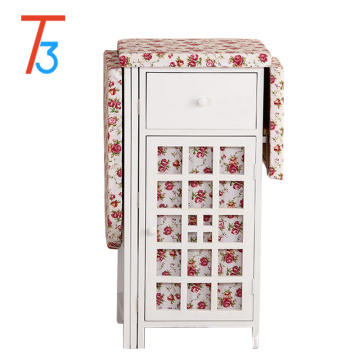 solid wood frame ironing board foldable with drawers