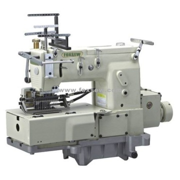 12 Needle Flat-bed Double Chain Stitch Sewing Machine with Shirring