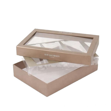 Cosmetic Cardboard Lid and Base Box With Window