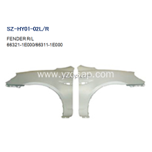 Online Exporter for HYUNDAI Fender Replacement Steel Body Autoparts HYUNDAI 2006 ACCENT FENDER supply to Tuvalu Exporter