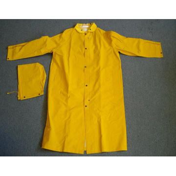 PriceList for Mens Raincoat, PVC/Polyester Hooded Raincoats, Plastic Raincoat Supplier in China Heavy-Weight PVC Over Polyester Detachable Hooded Raincoats supply to Kenya Importers