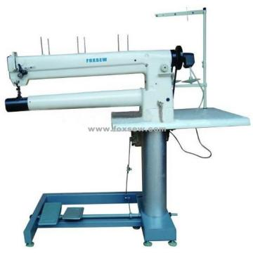 Double Needle Long Arm Cylinder Bed Unison Feed Sewing Machine for Filter Bags
