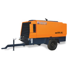 600cfm diesel portable screw air compressor