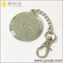 Engraved logo name custom shaped metal keychain